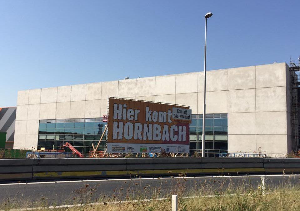 Gevel klus bij de grootste Hornbach vestiging van Europa